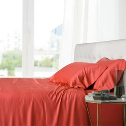 Queen Size Bed Sheet Set- 100% Bamboo Ultra Cool Soft 4PC De