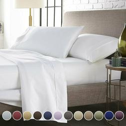 Queen Size Egyptian Comfort 1800 Count 6 Piece Bed Sheet Set