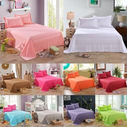Queen Twin Full Size Bed Sheets Flat Sheet Cover Pillow Case