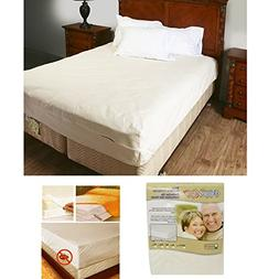 Queen Size Zippered Mattress Cover Protector Dust Bug Allerg