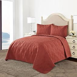 HollyHOME Quilt Set Collection, Solid Lightweight Hypoallerg