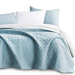 KASENTEX Quilted Coverlet 3-pc Mini Bedding Set-All Season L