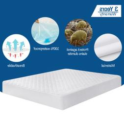 Quilted Mattress Pad Cover Protector Fitted Bed Sheet Topper