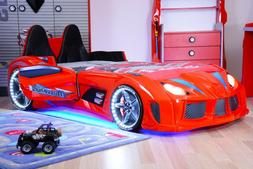 Race Car Bed Twin Kids Boys Toddler Sheets Bedding Set Bed F