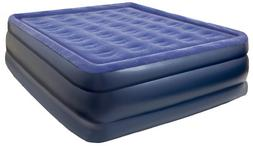 Pure Comfort Inflatable Air Mattress: Raised-Profile Bed wit
