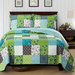 Rebekah King/California King Size, Over-Sized Quilt 3pc set,