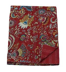 My Craft Palace Red Indian Cotton Bed Sheet Crown Print Home