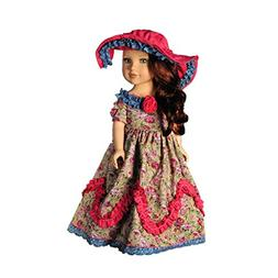 Youtop Retro Duchess Royal Gown Long Dress with Hat Fits for