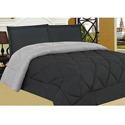 Sweet Home Collection 3 Piece Reversible Two Tone Microfiber