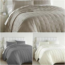 Chezmoi Collection Riley 3-piece Tufted Reversible 100% Soft