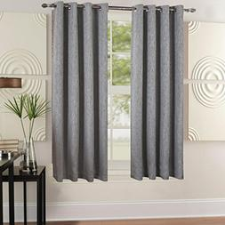 BEST DREAMCITY Faux Linen Blackout Curtains for Bedroom, Win