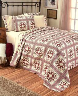 Rosewood Pattern Quilt or Sheet Sets, Queen Or King Size Bed