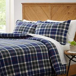 Stone & Beam Rustic Plaid Flannel Yarn-Dyed Duvet Set, Full/