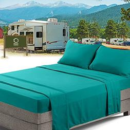 RV/Short Queen Bed Sheets Set Bedding Sheets Set for Campers