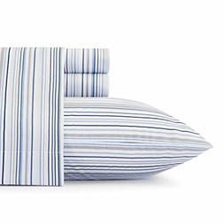 Nautica Sailing Stripe Sheet Set Queen Blue