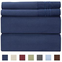 Full Size Sheet Set - 4 Piece - Hotel Luxury Bed Sheets - Ex