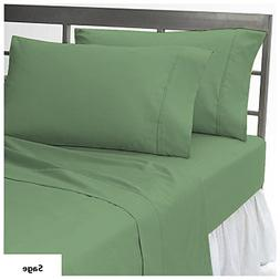 Solid Pattern Luxurious 1 Fitted Sheet & 2 Pillowcases with
