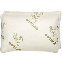 Shredded Memory Foam Pillow with Bamboo Cover - Relieve Neck