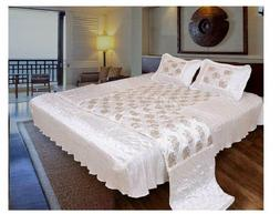 Style n Heaven Silk Bed Sheets 1 Bedsheet and 2 Pillow Cover