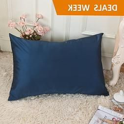 Silky Satin Pillowcase for Sleeping-Hair/Skin Protect-Stain/