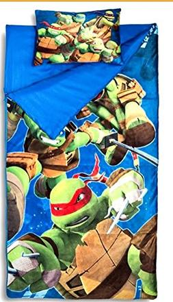 Sleeping Bags for Boys - Ninja Turtle Slumber Bag  and Pillo
