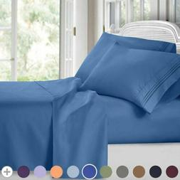 soft bed sheets set 4 piece deep