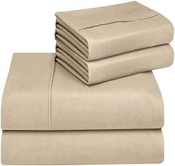 Utopia Bedding Soft Brushed Microfiber Wrinkle Fade and Stai
