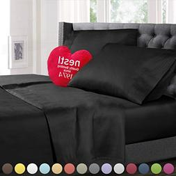 Full Size Bed Sheets Set Black, Highest Quality Bedding Shee