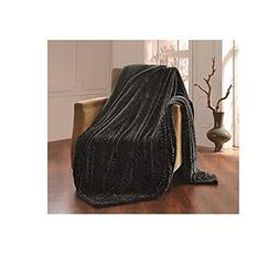 All American Collection New Solid Plush Throw Blanket with S