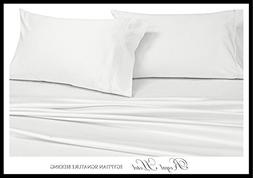 Royal Hotel's Solid White 600-Thread-Count Super-Deep 4pc Qu