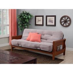 """Better Homes and Gardens Solid Wood Arm Futon with 8"""" Coil M"""