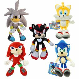 Sonic The Hedgehog Plush Doll Knuckles Tails Shadow Silver t