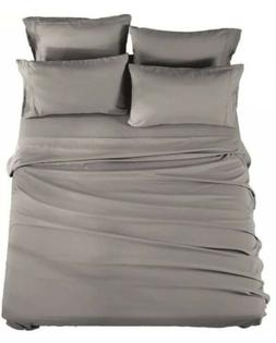 Soniro Kate Bed Sheet Set Hypoallergenic Twin Xl Grey