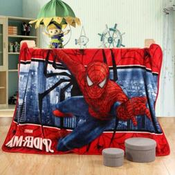 Spiderman Child Blanket Bed Sheets Soft Air Conditioning Bab