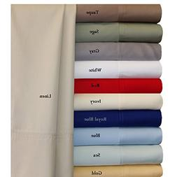 Twin Extra Long Sea Silky Soft bed sheets 100% Rayon from Ba