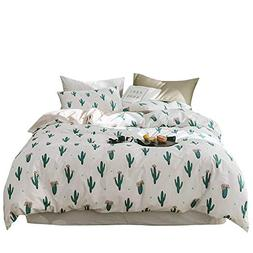 VClife Cotton Queen Bedding Sets Home Textile for Kids Teens