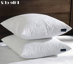 """20""""X20"""" Square Pillow Insert, 95% Feather 5% Down, 100% Cott"""