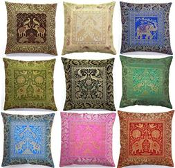 Third Eye Export 10 Pc Lot Square Home Decor Cushion Cover,