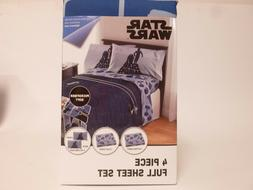 Star Wars 'Space Logo' Sheet Set - R2D2 and C3PO - Soft and