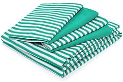 Cosy House Collection Striped Bed Sheets - Super Soft Luxury
