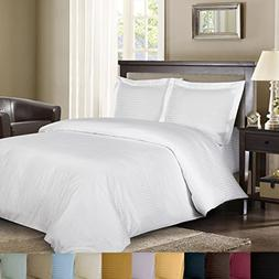 Royal Hotel's Striped White 300-Thread-Count 3pc Full / Quee