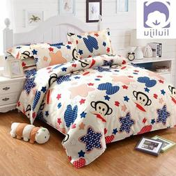Student Individual Bed Pillowcase Quilt Cover Sheets Cotton