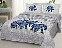 Style n Heaven Cotton Bed Sheets with double bed bed sheet