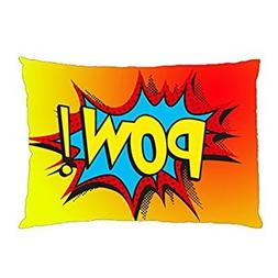 Super Hero Dc Marvel Comic Punch Sound Attack Pillowcase in