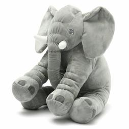 Super Soft Cuddling Stuffed Grey Floppy Elephant Toy 24""