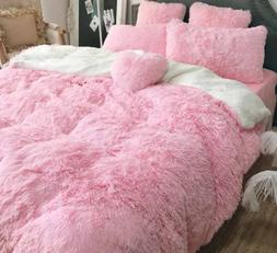 Super Soft Faux Fur Throw Blankets Fluffy Long Shaggy Bed Co