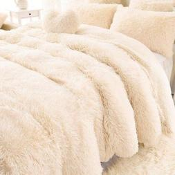 Super Soft Fluffy Faux Fur Blanket Long Shaggy Cozy Sheet Th