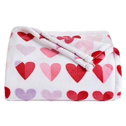 The Big One Super Soft Plush Throw Hearts