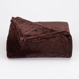The Big One Super Soft Plush Throw Brown