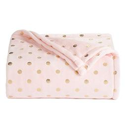 The Big One Super Soft Plush Throw Pink Dots